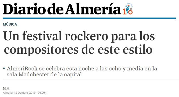 AlmeriRock en medios de comunicación Diario de Almería