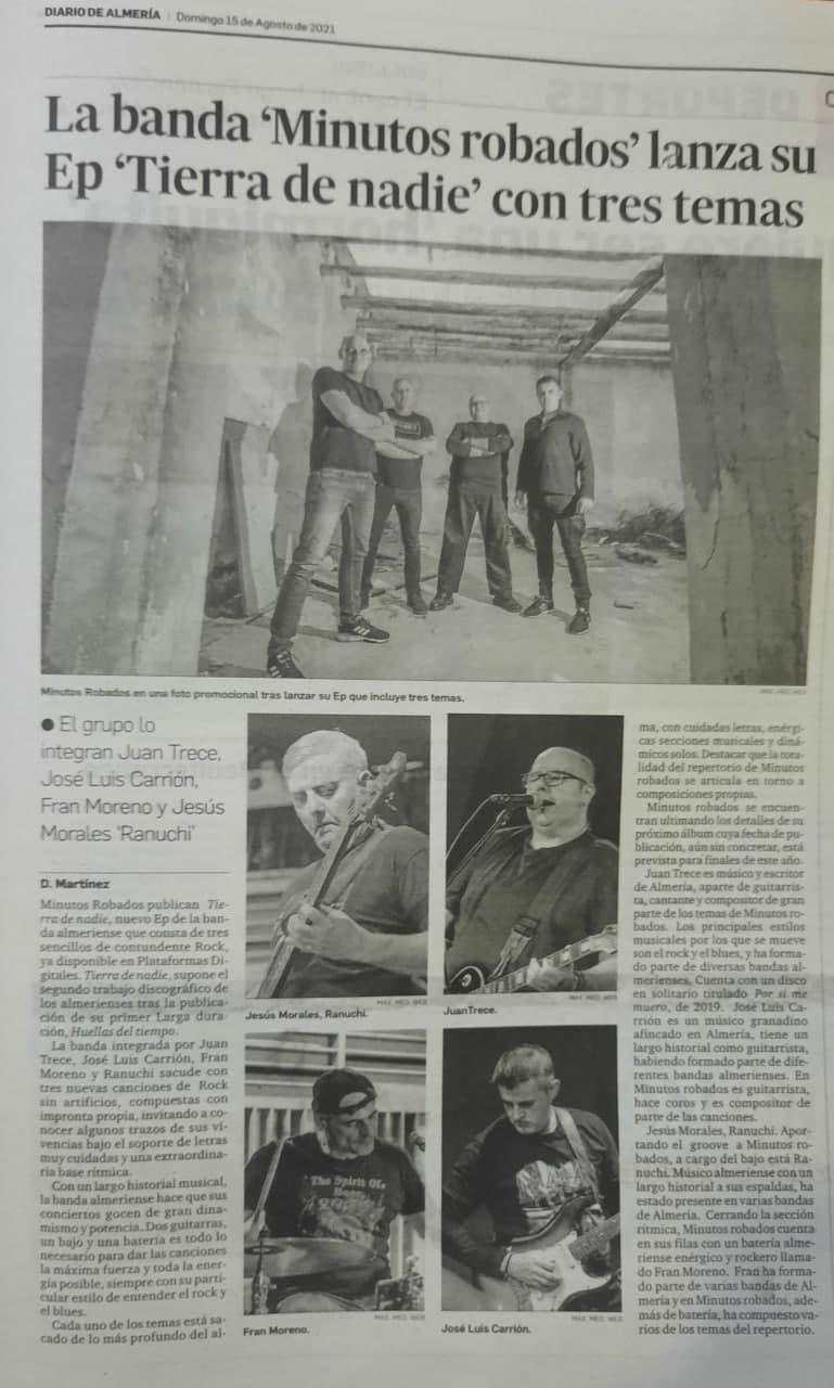 Minutos robados en Diario de Almería